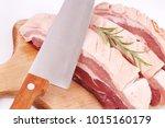 fresh pork isolated | Shutterstock . vector #1015160179