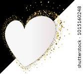 golden heart vector banner on... | Shutterstock .eps vector #1015160248