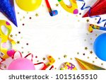 birthday party background with... | Shutterstock . vector #1015165510
