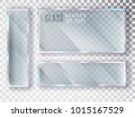 glass transparent banners set.... | Shutterstock .eps vector #1015167529