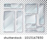 glass transparent plates set.... | Shutterstock .eps vector #1015167850