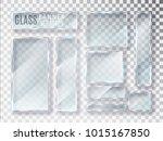 glass transparent plates set.... | Shutterstock .eps vector #1015167850