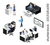 isometric 3d illustration... | Shutterstock . vector #1015181650