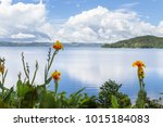 beautiful scene with a relaxing ... | Shutterstock . vector #1015184083
