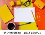 work space  top view   Shutterstock . vector #1015185928