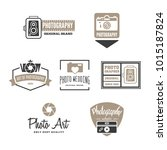 photography logos  badges and... | Shutterstock .eps vector #1015187824