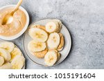 light healthy snack made from... | Shutterstock . vector #1015191604