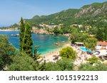 beautiful beach in...   Shutterstock . vector #1015192213
