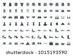 clothes silhouette icon | Shutterstock .eps vector #1015193590