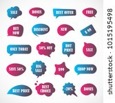 vector stickers  price tag ... | Shutterstock .eps vector #1015195498