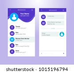 vector phone chat interface.... | Shutterstock .eps vector #1015196794