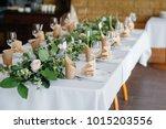 elegant and beautifully set... | Shutterstock . vector #1015203556
