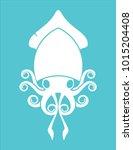 calamar logo sea food | Shutterstock .eps vector #1015204408