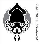 calamar logo sea food | Shutterstock .eps vector #1015204414