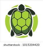 logo green turtle | Shutterstock .eps vector #1015204420