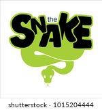 the snake's logo wriggles | Shutterstock .eps vector #1015204444