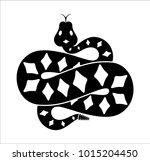 the snake's logo wriggles | Shutterstock .eps vector #1015204450