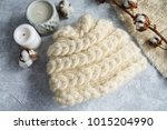 knitted caps in the interior... | Shutterstock . vector #1015204990