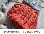 knitted caps in the interior... | Shutterstock . vector #1015204999