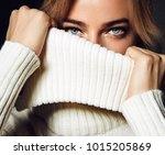 A Close Up Portrait Of A Woman...