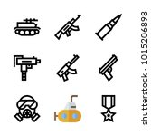 icons weapons. vector gas mask  ... | Shutterstock .eps vector #1015206898