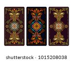 vector illustration for tarot... | Shutterstock .eps vector #1015208038