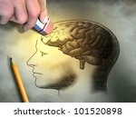 someone is erasing a drawing of ... | Shutterstock . vector #101520898