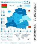 belarus infographic map and... | Shutterstock .eps vector #1015210030