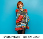 colorful photo of young smiling ... | Shutterstock . vector #1015212850