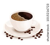 cup of coffee vector realistic...   Shutterstock .eps vector #1015216723