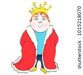 cartoon king  vector hand...   Shutterstock .eps vector #1015218070