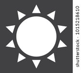 sun glyph icon  easter and... | Shutterstock .eps vector #1015218610