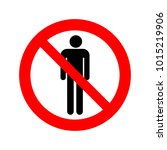 no people sign vector icon. | Shutterstock .eps vector #1015219906