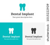 health dental implant logo... | Shutterstock .eps vector #1015222939