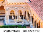 garden at monreale cathedral ... | Shutterstock . vector #1015225240