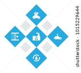 set of 5 bio icons set.... | Shutterstock . vector #1015229644