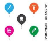 set of 5 creative icons set.... | Shutterstock . vector #1015229704