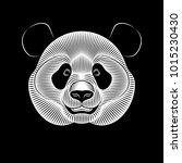 graphic print of giant panda on ... | Shutterstock .eps vector #1015230430