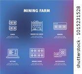mining. equipment for mining.... | Shutterstock .eps vector #1015231528