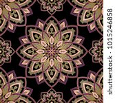 oriental filigree pattern of... | Shutterstock .eps vector #1015246858