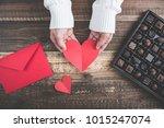 valentine's day chocolate | Shutterstock . vector #1015247074