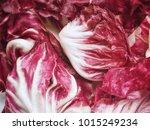 close up of radicchio | Shutterstock . vector #1015249234