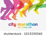 running people. running... | Shutterstock . vector #1015250560