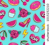 cute seamless pattern with... | Shutterstock .eps vector #1015252210
