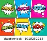 retro comic speech bubbles set... | Shutterstock .eps vector #1015252213