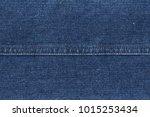denim jeans texture. blue jeans ... | Shutterstock . vector #1015253434