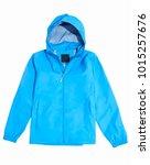 Blue Raincoat Isolated On White