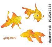 vector set of aquarium... | Shutterstock .eps vector #1015263358