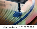 silicon wafer in die attach... | Shutterstock . vector #1015265728