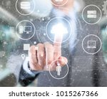 cloud computing integrate... | Shutterstock . vector #1015267366
